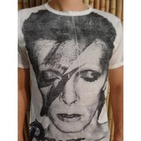 Tee shirt David Bowie blanc