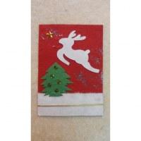 Carte le sapin le renne et l'étoile polaire 2