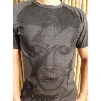 Tee shirt David Bowie anthracite