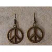 Boucles d'oreilles peace and love