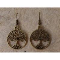 Boucles d'oreilles arbre de vie aux racines