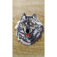 Ecusson loup gris