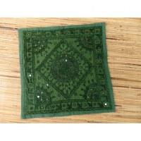 Housse carrée verte