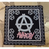 Bandana anarchy noir/gris