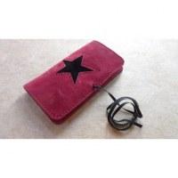 Blague à tabac rose étoile noire