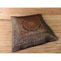 Housse carrée Gujarat 2 noir