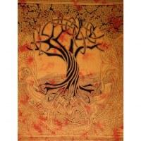 Tenture maxi orange arbre de vie celtique