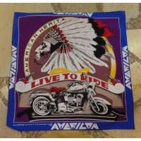 Bandana indien et moto