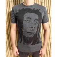 Tee shirt visage Bob Marley anthracite