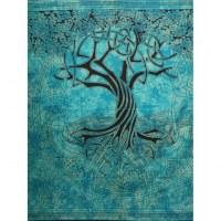 Tenture maxi bleu arbre de vie celtique