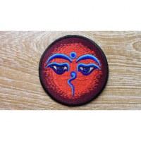 Ecusson les yeux de Bouddha