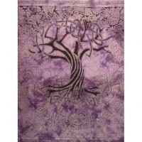 Tenture maxi violet arbre de vie celtique