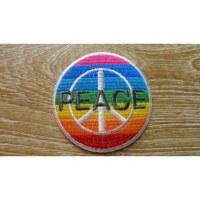 Patch rainbow peace & love