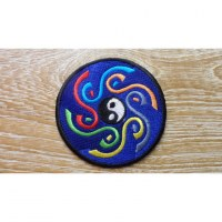 Patch bleu marine yin yang