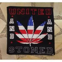 Bandana feuille à fumer drapeau USA
