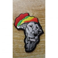 Patch drapeau lion rastafrica