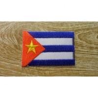 Ecusson drapeau cubain