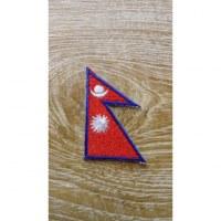 Patch petit drapeau népalais