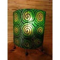 Lampe ovale verte spirale