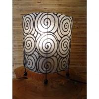 Lampe ovale blanche spirale