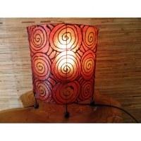 Lampe ovale orange spirale