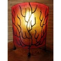 Lampe ovale flammée
