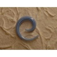 Elargisseur d'oreille blanc/bleu spirale