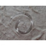 Elargisseur d'oreille spirale transparente