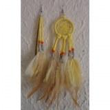 Boucles d'oreilles dreamcatcher originality jaune