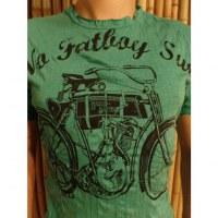 Tee shirt bicyclette vert