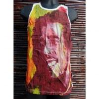 Débardeur blanc Bob Marley color