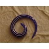 Elargisseur d'oreille blanc/bleu marine spirale
