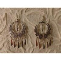 Boucles d'oreilles ethnik double cercles