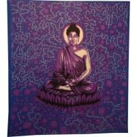 Tenture maxi bulles Bouddha zen mauve