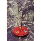 Porte encens rouge Aum