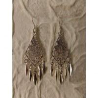 Boucles d'oreilles ethnik losange mini pampilles