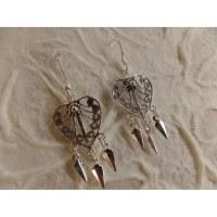 Boucles d'oreilles ethnik love mini pampilles