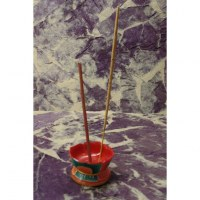 Porte encens fleur rouge
