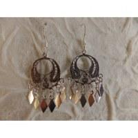 Boucles d'oreilles ethnik rondo mini pampilles
