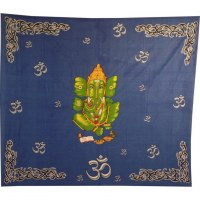 Maxi tenture bleu foncé Om Ganesh