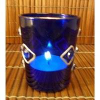 Photophore verre bleu