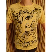 Tee shirt jaune vif little Ganesha
