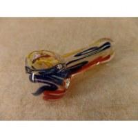 Pipe en verre soufflé spire couleur