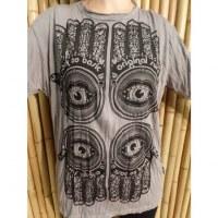 Tee shirt gris acier 4 khamsa