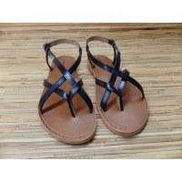 Sandales Tropéziennes Hiboux noir