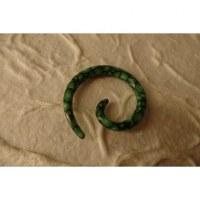 Elargisseur d'oreille spirale vert clair
