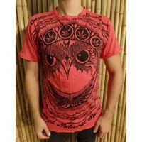 Tee shirt rouge hibou