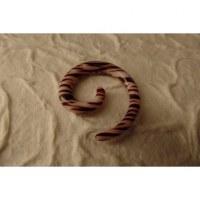 Elargisseur d'oreille spirale zébrée