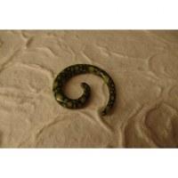 Elargisseur d'oreille spirale vert
