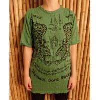 Tee shirt vert les 2 tigres